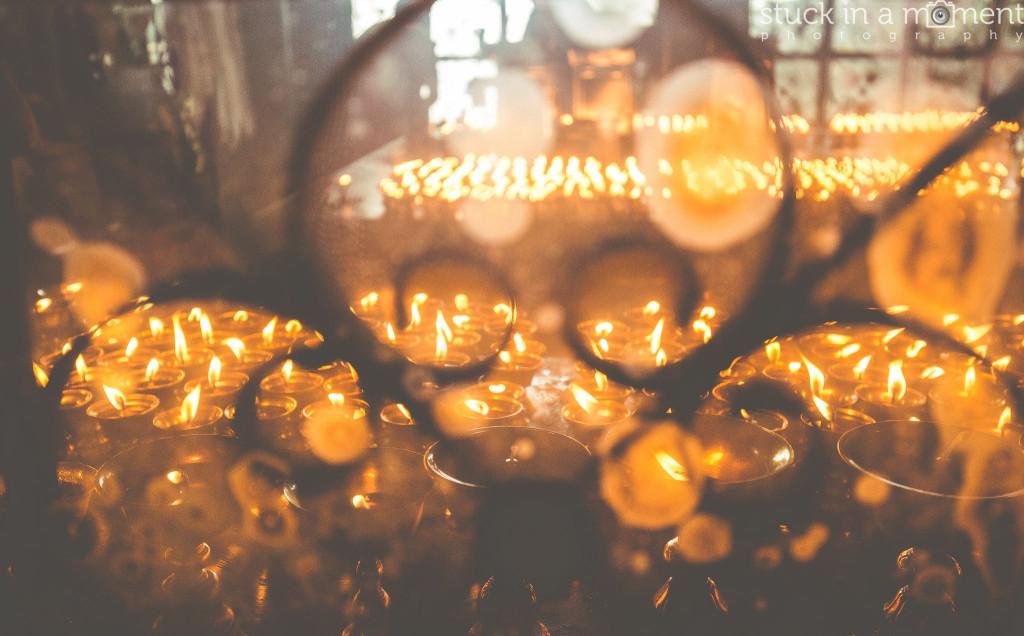 Butter lamp offerings