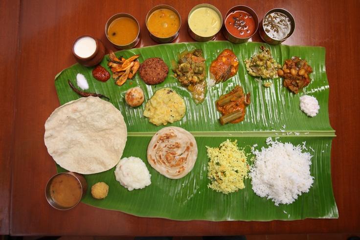 indian wedding food banana leaf